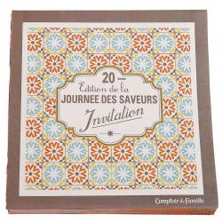 Paquet de 20 serviettes en papier Invitation