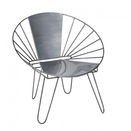 Fauteuil metal chaise