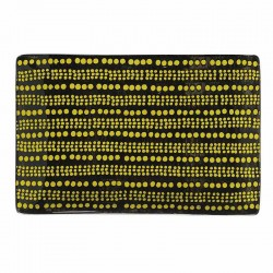Plat rectangle pois jaune et noir