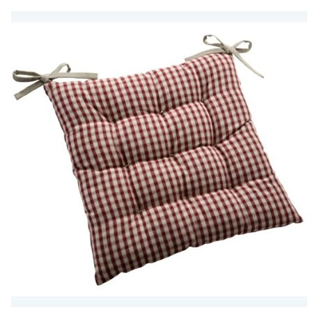 Coussin galette chaise textile campagne - Coussin galette chaise ...