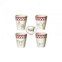 Lot de 4 gobelets expresso assortis GALLINE