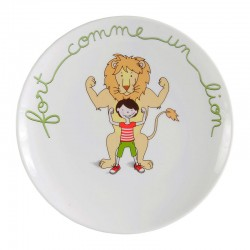 Coupelle porcelaine Lion