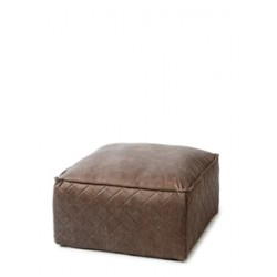 Pouf imitation cuir  Taupe