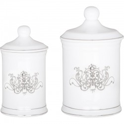 Set 2 pots à coton Douce Arabesque