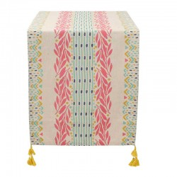 Chemin de table coton Boheme Fleuri