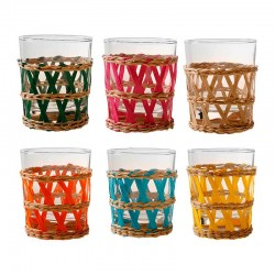 Lot 6 verres orangeade multicolore