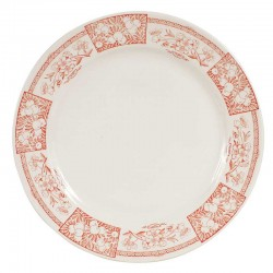 Assiette plate CHATOU rouge