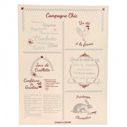 "Plaque ""Campagne Chic"""
