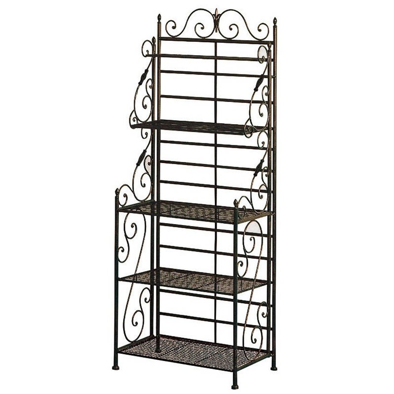 Etagere boulangere fer forge meuble for Meuble fer forge