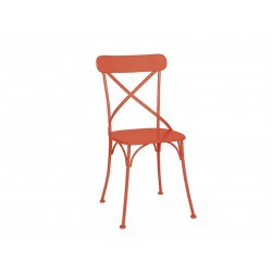 Chaise metal orange