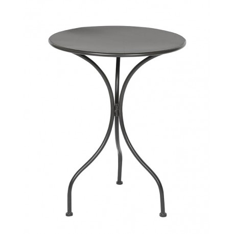 Table ronde metal noire