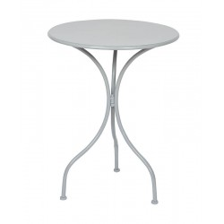 Table ronde metal grise