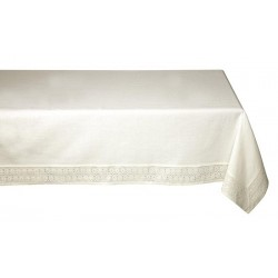 Nappe rectangle ivoire ADELIE