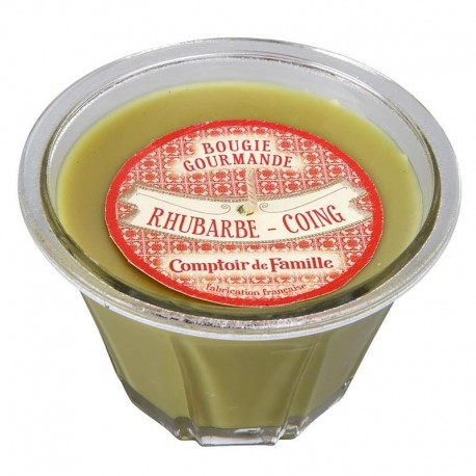 Bougie gourmande Rhubarbe Coing
