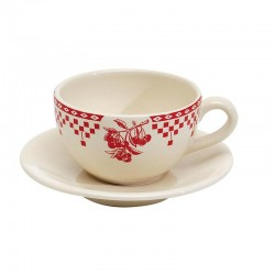 Damier Rouge Paire tasse the