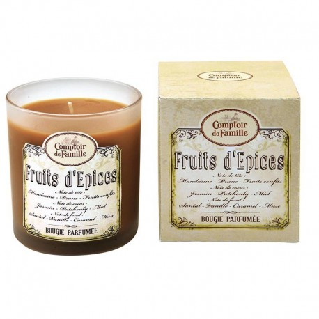 Bougie grand modele  Fruits d epices